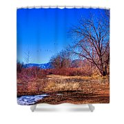 Winter In South Platte Park Shower Curtain