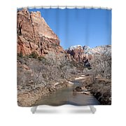 Winter In Zion Shower Curtain