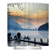 Winter Lake Shower Curtain