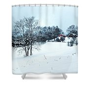 Winter Landscape 1 Shower Curtain
