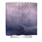 Winter Long Grass Shower Curtain