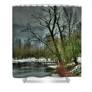 Winter On The Nicomen Slough Shower Curtain