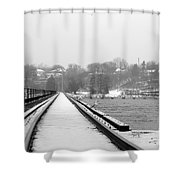 Winter Rails Shower Curtain