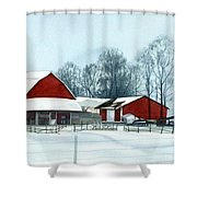 Winter Respite In The Heartland Shower Curtain