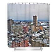 Winter Scene Downtown Buffalo Shower Curtain