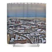 Winter Scene Land And Water Shower Curtain