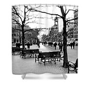 Winter Setting Sun Shower Curtain