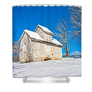Winter Smoke House Shower Curtain