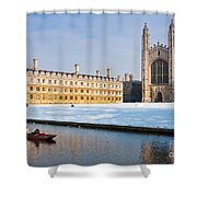 Winter Snow At Kings Shower Curtain
