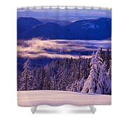 Winter Snow, Cascade Range, Oregon, Usa Shower Curtain