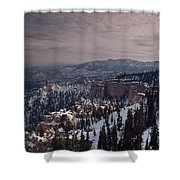 Winter Snow Covers The Landscape Shower Curtain