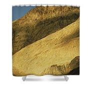 Winter Sunlight On Desert Mountains Shower Curtain