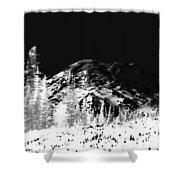 Winter Sunrise On Mount Rainier Shower Curtain