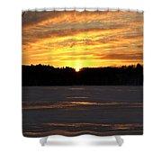 Winter Sunset II Shower Curtain