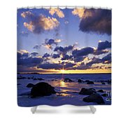 Winter Sunset On Lake Michigan - Fm000053 Shower Curtain