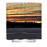 Winter Sunset V Shower Curtain