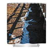 Winters Approach Shower Curtain