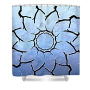 Winter's Flower Shower Curtain