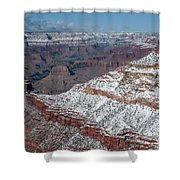 Winter's Touch At The Grand Canyon Shower Curtain