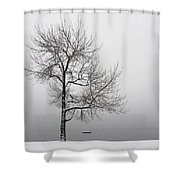 Wintertrees Shower Curtain