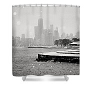 Wintery Chicago Shower Curtain