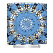 Wire Flowers And Butterflies Shower Curtain