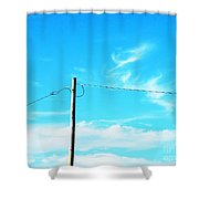 Wire Wrangler Shower Curtain