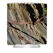 Wired Fence Post Shower Curtain