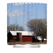 Wisconsin Farm Shower Curtain