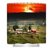 Wisconsin Farm Shower Curtain