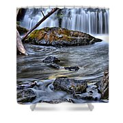 Wisconsin Waterfall Shower Curtain