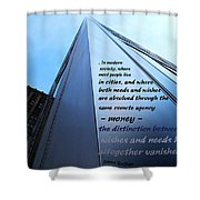 Wishes And Needs Shower Curtain