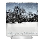 Wishing You A Very Merry Christmas Shower Curtain
