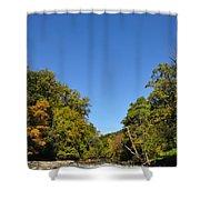 Wissahickon Blue Skies Shower Curtain