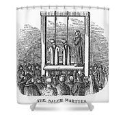 Witches: Execution, 1692 Shower Curtain