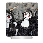 Witches Of Hallow's Eve Shower Curtain