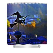 Witch's Ride Shower Curtain