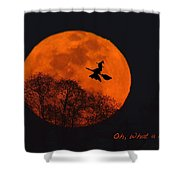 Witchy Moon Shower Curtain