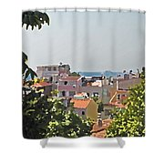 With A Seaview Shower Curtain