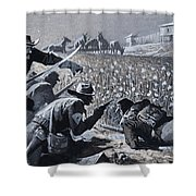 With His Men Concealed Fetterman Waited For The Marauding Indians Shower Curtain