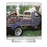 Wizzer Cycle At The Hot Rod Show Shower Curtain