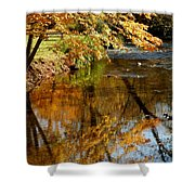 Wolcott River Reflections Shower Curtain