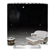 Wolf And Bear Spirit Guides Shower Curtain