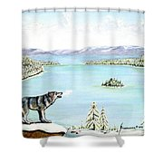 Wolf At Lake Tahoe Shower Curtain