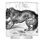 Wolf Attack Shower Curtain