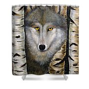 Wolf Beauty Shower Curtain