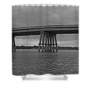 Wolf River Bridge Shower Curtain