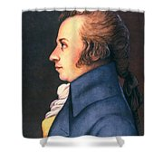 Wolfgang Amadeus Mozart Shower Curtain by Granger