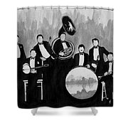 Wolverines Black And White Shower Curtain