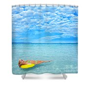 Woman And Ocean Shower Curtain